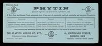 "view Phytin ""CIBA"" : A powerful nerve & general tonic / Clayton Aniline Co. Ltd."