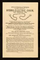 view Pulvermacher's patent portable hydro-electric chain for personal use : (inventor and patentee- J.L. Pulvermacher) ... / Charles Meinig.
