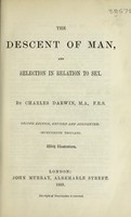view The descent of man, and selection in relation to sex / by Charles Darwin, with illustrations.