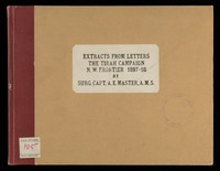 view Typescript diary formed of extracts from letters by Surgeon Captain Alfred E. Master, Army Medical Service, re campaigning with the Queens Regiment against the Afridi tribes on the North-West Frontier of India (The Tirah Campaign)