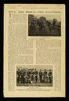 """view Page from Navy and Army Illustrated, 17 Jan 1903, containing an article entitled """"Royal Army Medical Corps (Volunteers)"""""""