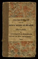 view To Regimental Surgeons serving on that establishment, for regulating the concerns of the sick and of the hospital