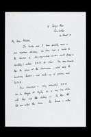 view Copied letter from Francis Crick to Michael Crick