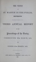 view [Report of the Medical Officer of Health for St. Martin-in-the-Fields].
