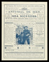 view Anti-mal de mer (patented and registered) : the only genuine preventive of sea sickness / introduced by the Pall Mall Electric Association.