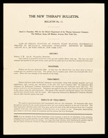 view The new therapy bulletin. Bulletin no. 17 / Clinical Department of The Vibrator Instrument Company.