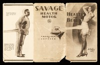 view Health & beauty at little cost : Savage health motor : exerciser & reducer / Savage Arms Corporation.