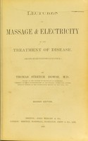 view Lectures on massage & electricity in the treatment of disease : (masso-electrotherapeutics) / by Thomas Stretch Dowse.