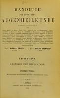 view Handbuch der gesamten Augenheilkunde / herausgegeben von Prof. Arlt [and others] ; redigiert von Alfred Graefe and Theod. Saemisch.
