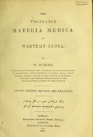 view The vegetable materia medica of western India / by W. Dymock.