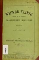 view Die mechanische Behandlung der Lumbago / von J. Schreiber.