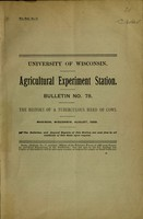 view The history of a tuberculous herd of cows / H. L. Russell.