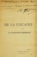 view De la cocaîne dans les interventions chirurgicales.