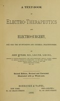 view A text-book of electro-therapeutics and electro-surgery.