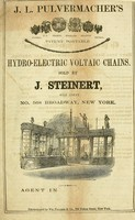 view J.L. Pulvermacher's patent portable hydro-electric voltaic chains : Sold by J. Steinert, sole agent, no. 568 Broadway, New York.