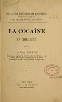 view La cocaïne en chirurgie / Paul Reclus.