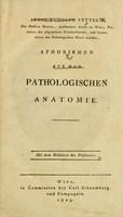 view Aloy's Rudolph Vetter's ... Aphorismen aus der pathologischen Anatomie : mit dem Bildnisse des Verfassers.