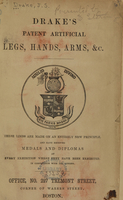 view Drake's patent artificial legs, hands, arms, &c.