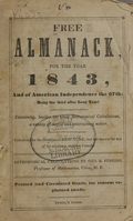 view Free almanack for the year 1843.