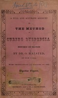 view Halsted's method of curing dyspepsia, biliousness, etc.