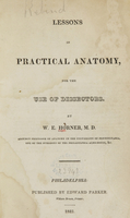 view Lessons in practical anatomy : for the use of dissectors / by W.E. Horner.