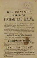 view Interesting history of the Panax (Quinquefolium) of Linnaeus, the ginseng of the Chinese, from the archives of history and medical science.