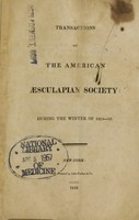 view Transactions of the American Aesculapian Society : during the winter of 1815-16.