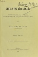 view Gehirn und Ruckenmark : Leitfaden fur das Studium der Morphologie und des Faserverlaufs.