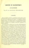 view Cornee et sclerotique : anatomie / Issued with Wecker, (Louis de) Maladies de la cornee.