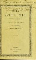 view Sulla ottalmia pustolar-contagiosa / ragionamento del chirurgo Gaetano Buzzi.