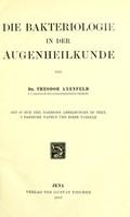 view Die Bakteriologie in der Augenheilkunde / von Theodor Axenfeld.