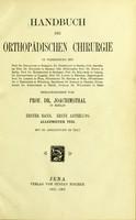 view Handbuch der orthopädischen chirurgie / herausgegeben von Prof. Dr. Joachimstahl.
