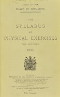 view The syllabus of physical exercises for schools 1909.