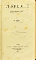 view L'hérédité psychologique / par Th. Ribot.