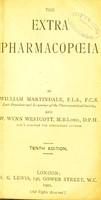 view The extra pharmacopoeia / by William Martindale ... and W. Wynn Westcott.