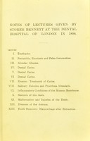 view Lectures on dental surgery / by Storer Bennett.