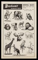 view Beecham's school quiz : animal quiz.