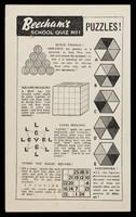 view Beecham's school quiz no.1 : puzzles!.
