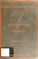 view Anæsthetics : a practical handbook / by J. Blumfeld.