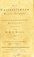 view Die Universitaeten Deutschlands in medicinisch-naturwissenschaftlicher Hinsicht / betrachtet von H.F. Kilian.