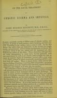 view On the local treatment of chronic eczema and impetigo / by John Hughes Bennett, M.D.