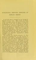 view Functional nervous diseases of reflex origin / by Albert Rufus Baker.