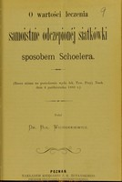 view O wartosci leczenia samoistinie odczepionéj siatkówki sposobem Schoelera / Boleslaw Wicherkiewicz.