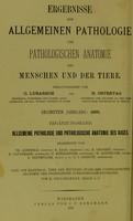 view Ergebnisse der allgemeinen Pathologie und pathologischen Anatomie des Auges / herausgegeben von O. Lubarsch und R. Ostertag.