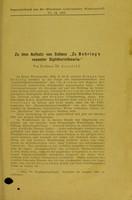 """view Zu dem Aufsatz von Schanz """"Zu Behring's neuester Diphtherietheorie"""" / von Th. Axenfeld."""
