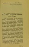 view Der tuberkulöse Erkrankung des Tränensacks / von Th. Axenfeld.