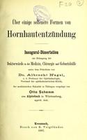 view Über einige seltenere Formen von Hornhautentzündung : inaugural-Dissertation / von Albrecht Nagel.