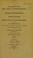 view Experimentelle Studie über reine Linsencontusionen : inaugural-Dissertation zur Erlangung der Doctorwürde / Otto Schirmer.