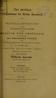 view Ueber einseitigen Exophthalmus bei Morbus Basedowii : inaugural-Dissertation welche zur Erlangung der Doctorwürde / der Verfasser Wilhelm Barella.