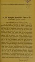 view Ein Fall von totaler doppelseitiger Amaurose im Verlauf einer leichten Anaemie / von M. Litten und J. Hirschberg.